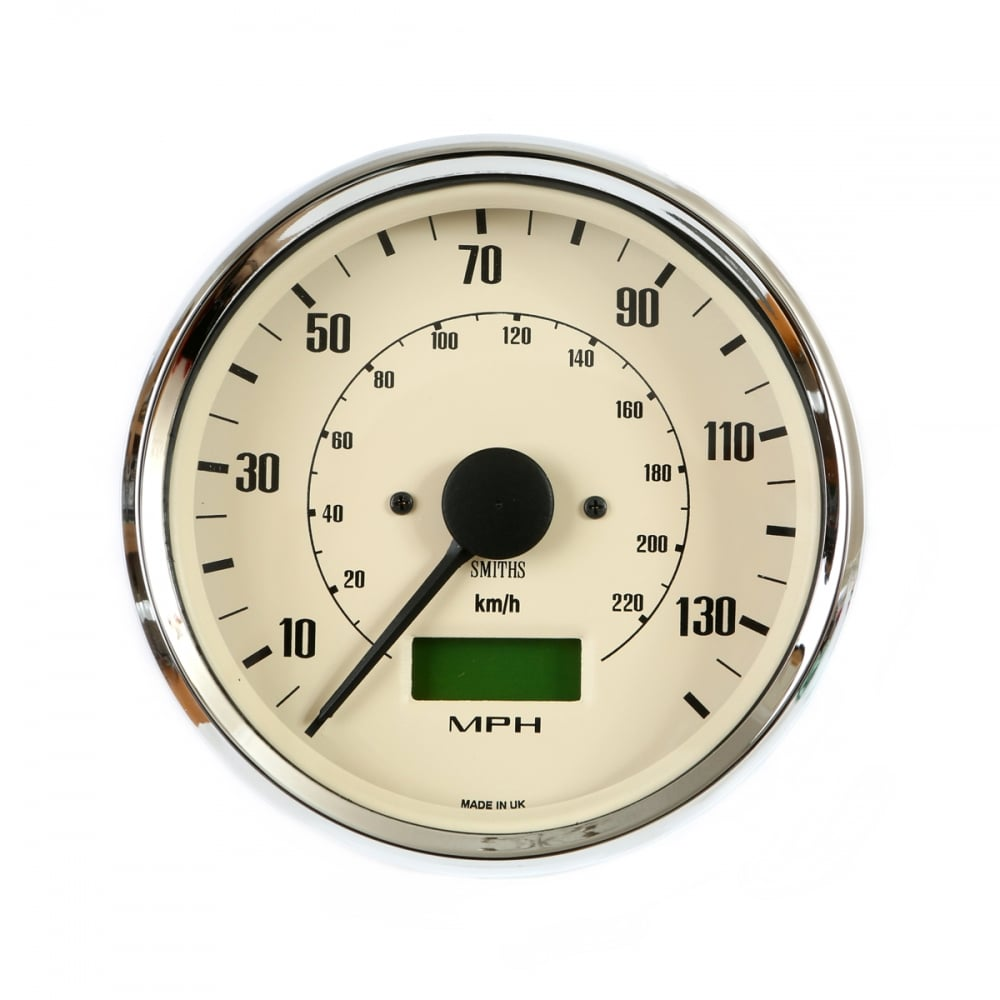Smiths Classic Magnolia 80mm Speedometer , MPH and KPH versions available  from stock