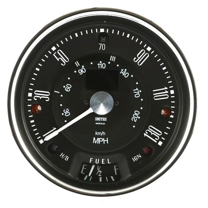 Smiths Classic Mini 130 MPH Black Digital Speedometer