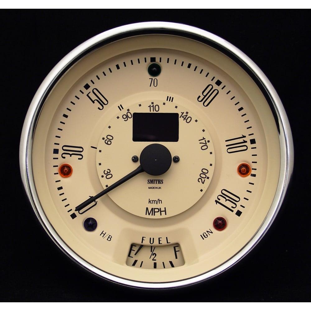 smiths classic mini 130mph speedometer magnolia