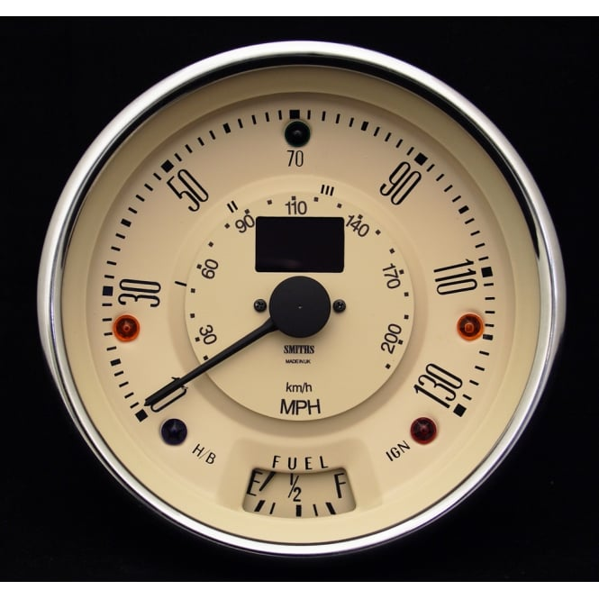 Smiths Classic Mini 130 MPH Magnolia Digital Speedometer