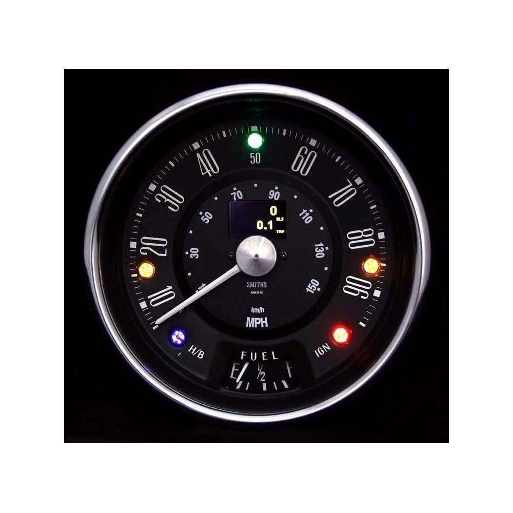 Smiths Classic Mini 90mph Speedometer Black
