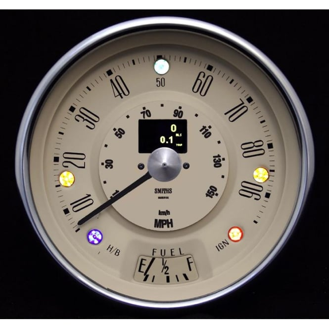 Smiths Classic Mini 90 MPH Magnolia Digital Speedometer
