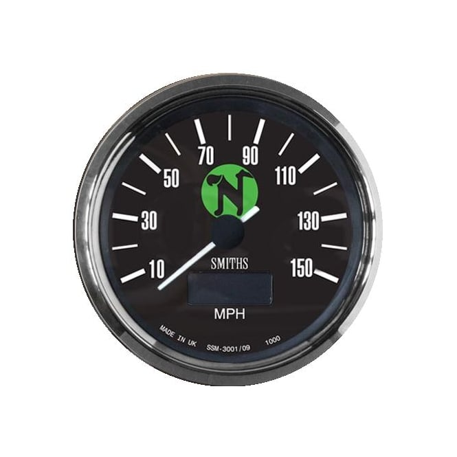 Smiths Classic N Logo 150 MPH Speedometer