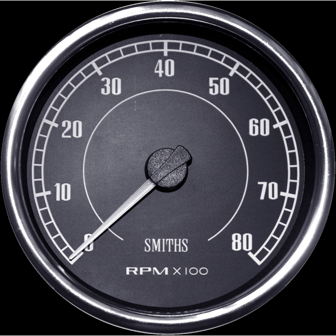 Smiths Flight 100mm Tachometer - Diesel Or Petrol Engines