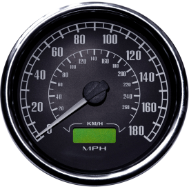 Flight 80mm Speedometer - 140 Or 180 MPH, Odometer, Re-settable Trip