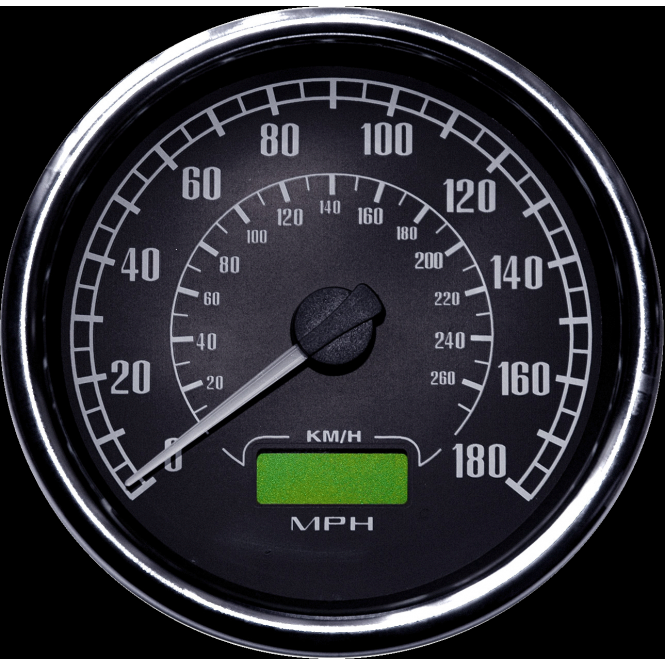 Smiths Flight 80mm Speedometer, available in 140 mph and 180 mph range with resettable trip and odometer